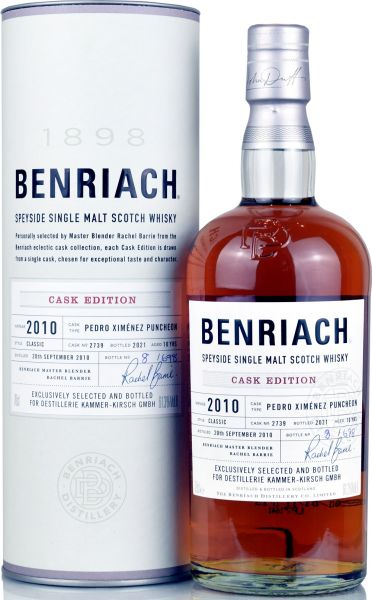 Benriach 10 Jahre 2010/2021 PX Sherry Exclusive Cask #2739 61,3% vol.