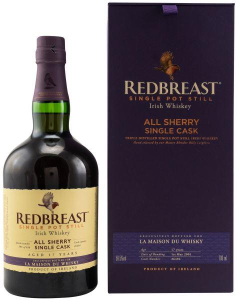 Redbreast 17 Jahre 2001 Sherry Single Cask #26494 59,5% vol.