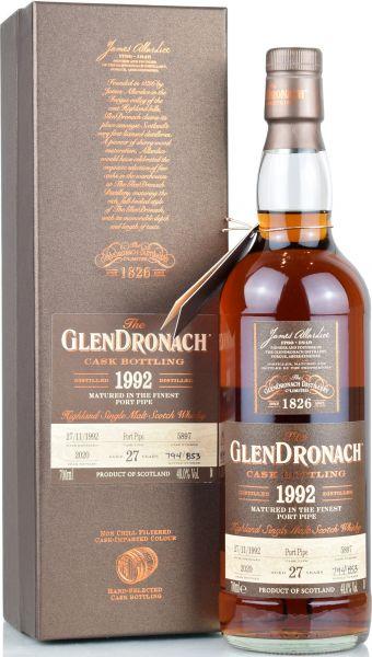 Glendronach 27 Jahre 1992/2020 Batch 18 Single Cask #5897 48% vol.
