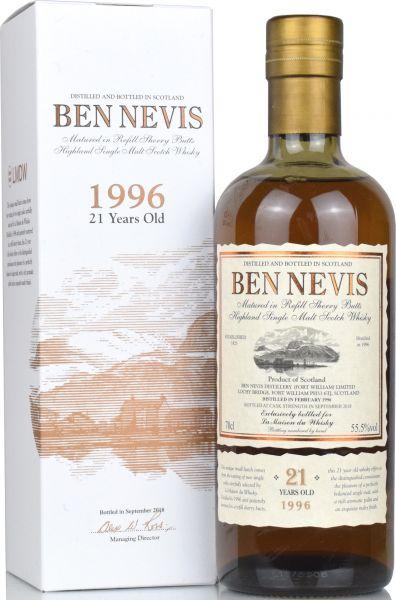 Ben Nevis 21 Jahre 1996/2018 Sherry Cask Small Batch 55,5% vol.
