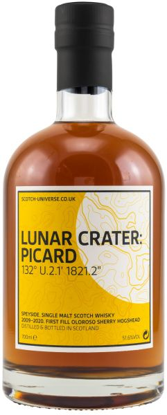 Lunar Crater: Picard 2009/2020 1st Fill Oloroso Sherry Scotch Universe 51,6% vol.