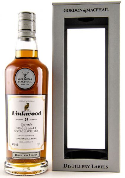 Linkwood 25 Jahre Gordon & MacPhail Distillery Label