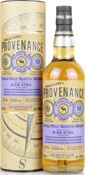 Blair Athol 10 Jahre 2009/2020 Sherry Butt Provenance Douglas Laing 46% vol.
