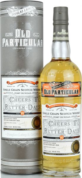 Port Dundas 16 Jahre 2004/2021 Old Particular Cheers To Better Days Douglas Laing 48,4% vol.