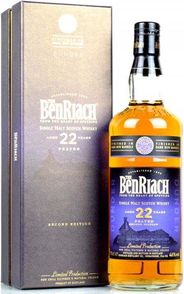 Benriach 22 Jahre Dunder Peated Dark Rum Wood Finish