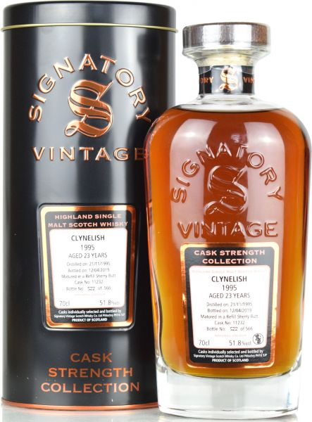 Clynelish 23 Jahre 1995/2019 Signatory Vintage Cask Strength Collection #11232 51,8% vol.