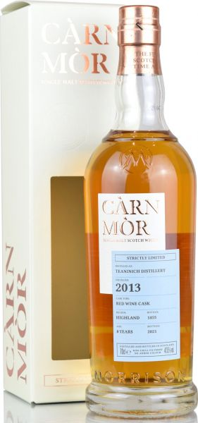 Teaninich 8 Jahre 2013/2021 Red Wine Cask Carn Mor Strictly Limited 47,5% vol.