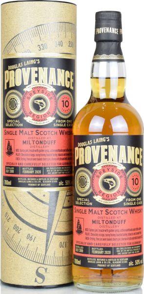Miltonduff 10 Jahre 2009/2020 Sherry Cask Provenance Douglas Laing 50% vol.