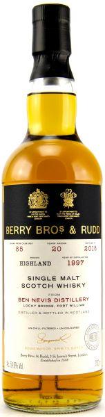 Ben Nevis 20 Jahre 1997/2018 Sherry Cask Berry Bros. & Rudd #85 54,6% vol.
