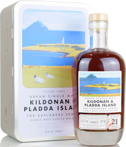 Arran 21 Jahre Kildonan & Pladda Island The Explorers Series Vol. 3 50,4% vol.