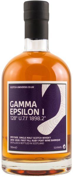 Gamma Epsilon I 10 Jahre 2010/2021 1st Fill Ruby Port Scotch Universe 52,6% vol.