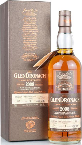 Glendronach 11 Jahre 2008/2020 Batch 18 Single Cask #648 61% vol.