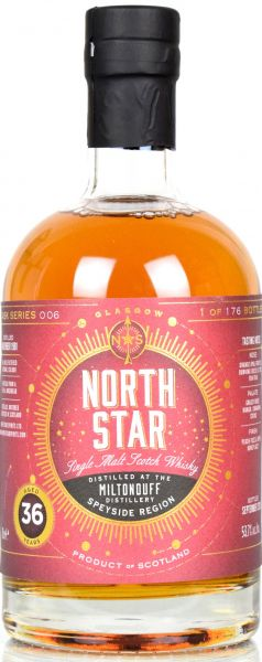 Miltonduff 36 Jahre 1981/2018 North Star Spirits #006 53,7% vol.