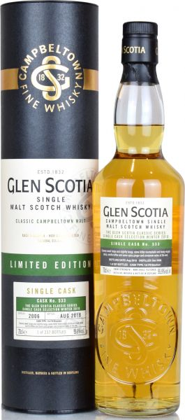 Glen Scotia 2006/2018 Single Cask #533 55,9% vol.