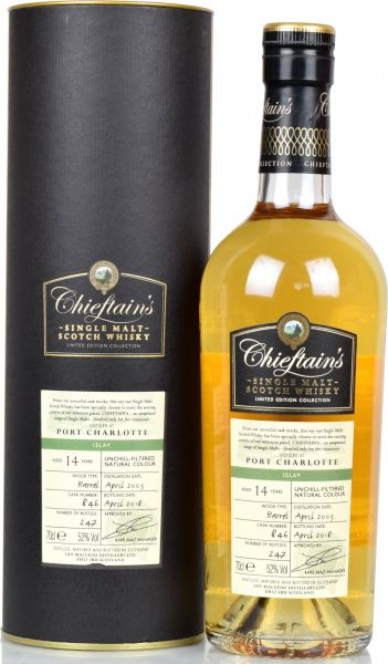Port Charlotte 14 Jahre 2003/2018 Chieftain's 52,0 % vol.