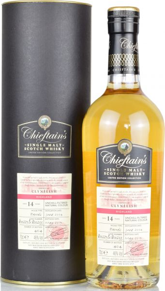 Clynelish 14 Jahre 2004/2019 Chieftain's 46,0 % vol.