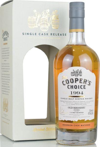 Old Rhosdhu 27 Jahre 1994/2021 Cooper's Choice 47% vol.