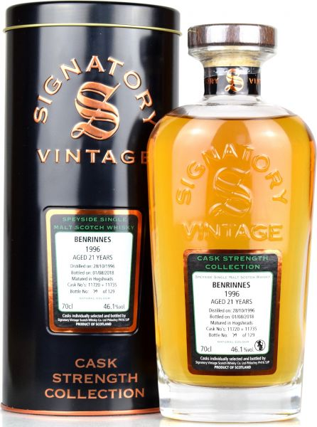 Benrinnes 21 Jahre 1996/2018 Signatory Vintage Cask Strength Collection #11720+11735