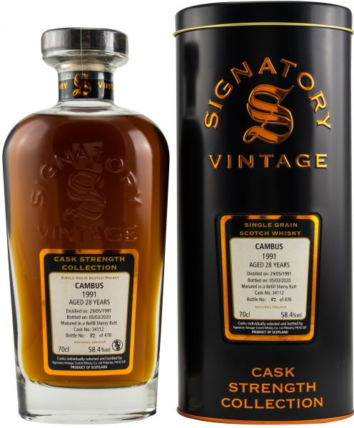 Cambus 28 Jahre 1991/2020 Sherry Cask Signatory Vintage Cask Strength Collection #34112