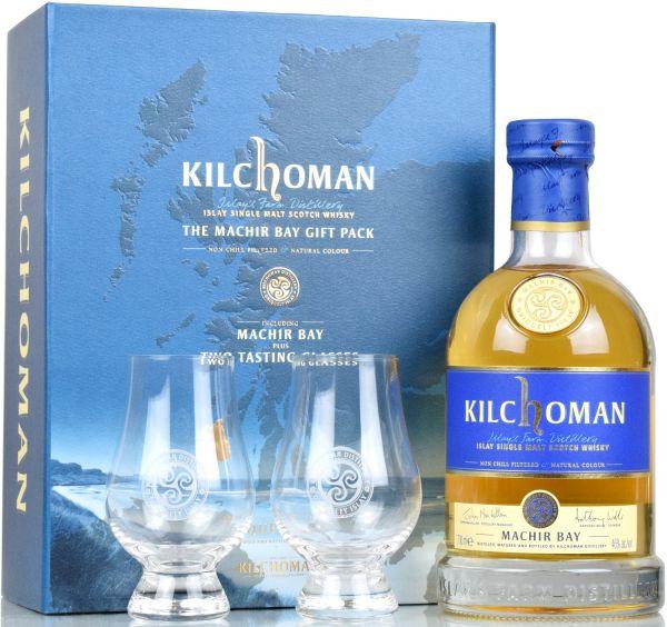 Kilchoman Machir Bay Geschenkpackung mit 2 Gläsern