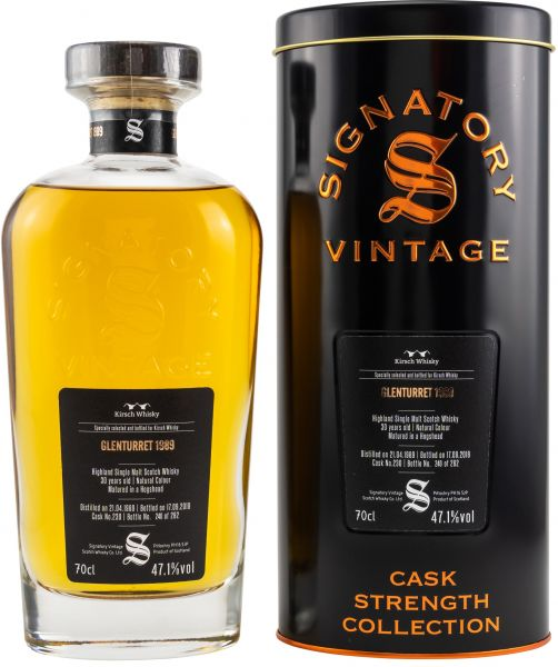 Glenturret 30 Jahre 1989/2019 Signatory Vintage Cask Strength Collection #230 47,1% vol.