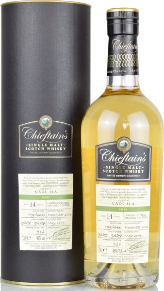 Caol Ila 14 Jahre 2004/2019 Chieftain's 46% vol.