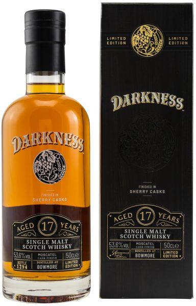 Bowmore 17 Jahre Moscatel Cask Finish Darkness! 53,6% vol.
