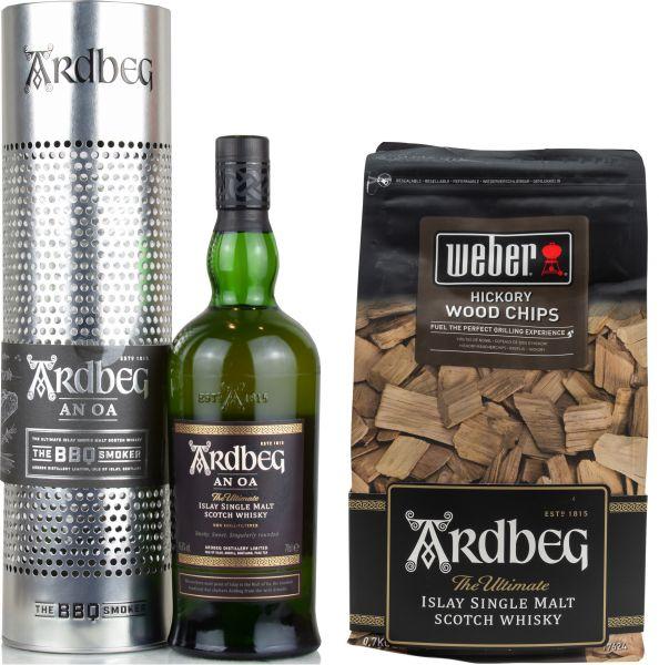Ardbeg An Oa BBQ Smoker Limited Edition + Weber Wood Chips