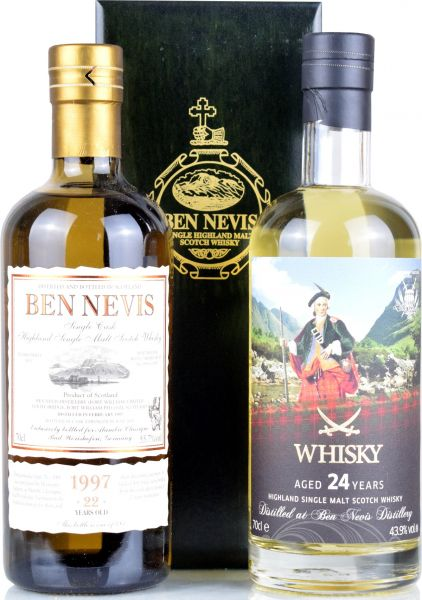 Ben Nevis SET - 1997/2019 for Alambic Classique 55,7% vol. + 1996/2020 Sansibar Whisky 43,9% vol.