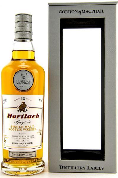 Mortlach 15 Jahre Gordon & MacPhail Distillery Label