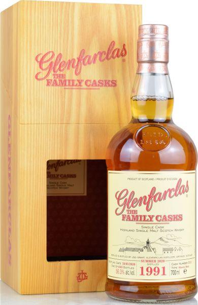Glenfarclas 29 Jahre 1991/2020 Family Casks S20 #211 56,3% vol.