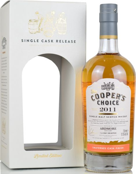 Ardmore 8 Jahre 2011/2020 Sauternes Cask Cooper's Choice 51,5% vol.