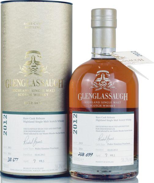 Glenglassaugh 9 Jahre 2012/2021 PX Sherry Single Cask #2923 for deinwhisky 58,3% vol.