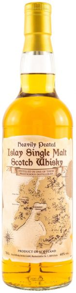 Map of Islay Heavily Peated Islay Single Malt Scotch Whisky 40% vol.